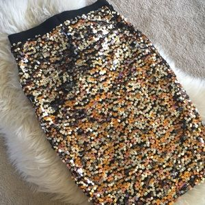 NWT Stunning Sequined Pencil Skirt
